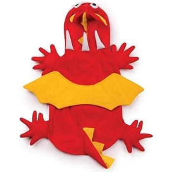 Zack & Zoey Dragon Dog Costume, X-Small, Red