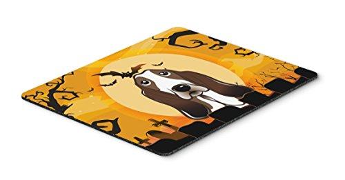 Caroline's Treasures BB1801MP Halloween Basset Hound Mouse Pad, Hot Pad or Trivet, Large, Multicolor