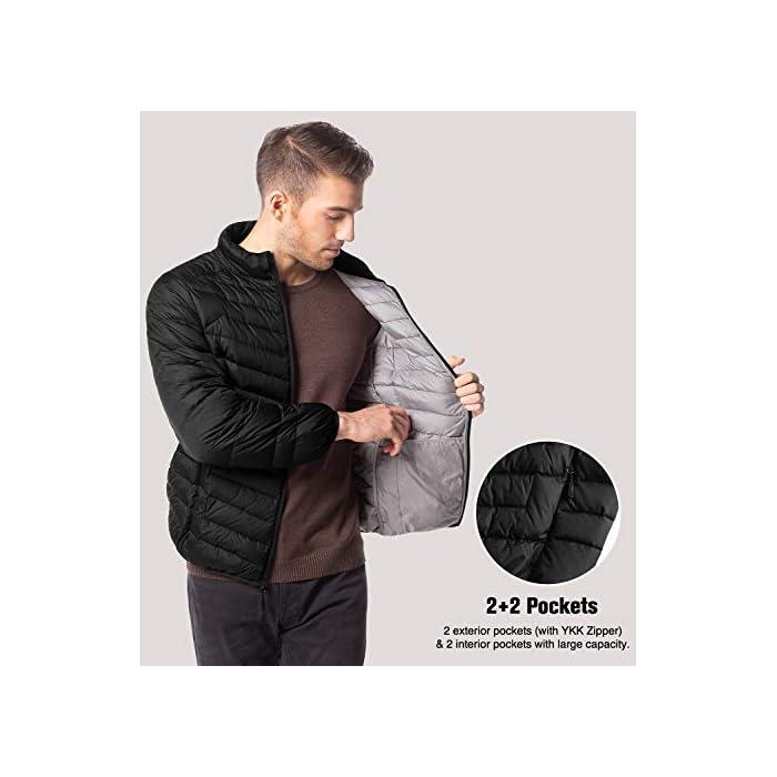 41Wr%2BdIa6qL ¡SÚPER LIGERÍSIMO! Definitivamente, más que ligero: con el peso de una camiseta, sentirás poco más que nada de penso. ¡SÚPER CÁLIDO! Sorprendentemente, a pesar de ser ligero como las plumas de su interior, estas chaquetas son de las prendas más cálidas del mercado. MATERIAL DEL INTERIOR, MARAVILLOSO: 90% plumón de pato, 10% pluma repelente al agua.