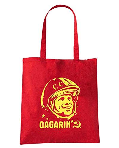 T-Shirtshock - Borsa Shopping TCO0010 yuri gagarin cccp comunismo Rosso