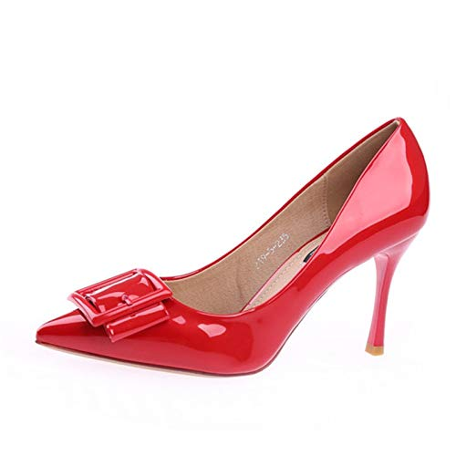 YMFIE de de de de señaló Baja C tacón tacón Moda Solo Aguja Boda Aguja de Europeo Temperamento Zapatos de de Estilo Zapatos Boca S8qrIS