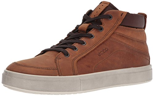 Ecco Mens Kyle High Top Fashion Sneaker Bärnsten