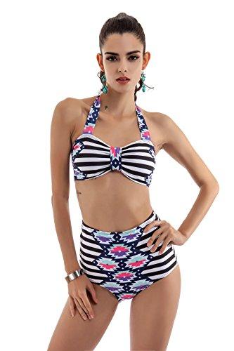 SZH YIBI Ms. bikini medio ambiente alta elasticidad moda traje de baño siamés traje de baño picture color