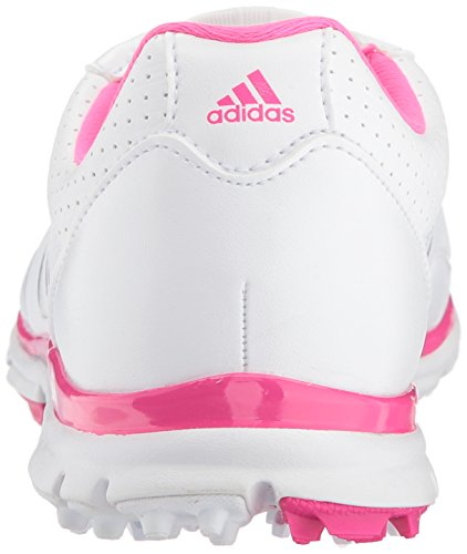 Pictures of adidas Women's Adistar Lite BOA Golf Q4497132 White/Silver Metallic/Shock Pink 8