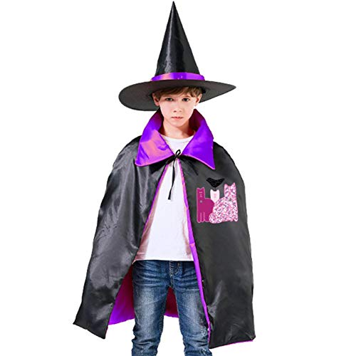 Children's Miranda Sings Favorite Cats Halloween Costumes Witch Wizard Cloak with Hat Wizard Cape Party