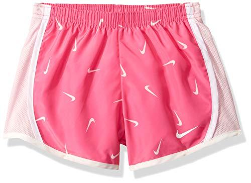 (NIKE Children's Apparel Girls' Little Dri-FIT Tempo Shorts, Fuchsia/Pink/White, 5)