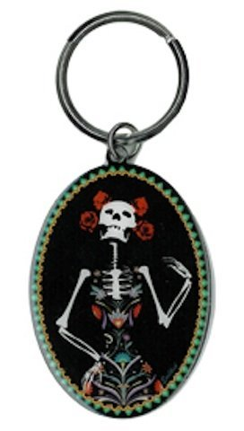 CATRINA DAY OF THE DEAD Evilkid Original Licensed Elegant Bright Metal Die-Cut KEYCHAIN