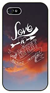 Love is patient and kind - Corinthians 13:4 - Bible verse IPHONE 5C black plastic case / Christian Verses
