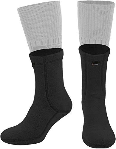 281Z Hiking Warm Liners Boot Socks - Military Tactical Outdoor Sport - Polartec Fleece Winter Socks (Medium, Black)