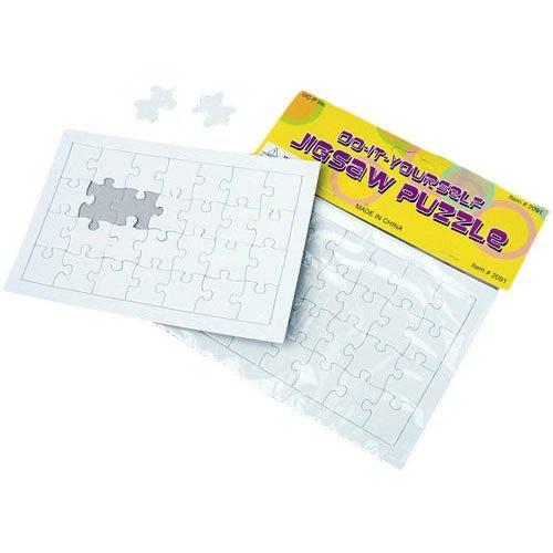 U.S. Toy Dozen Blank DIY Paper Jigsaw Puzzles ()