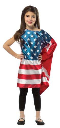Costume Of Usa For Kids (USA Flag Dress)