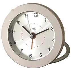 Bai Round Diecast Solid Metal Travel Alarm Clock, Helio