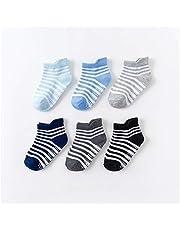 Jfsmgs Sok 6 Paar/partij 0 tot 6 Yrs Katoen Kinderen Anti-slip Boot Sokken Voor Jongens Meisje Low Cut Floor Kid Sok Met Rubber Grips Vier Seizoen