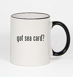 got sea card? - 11oz Black Handle Coffee Mug
