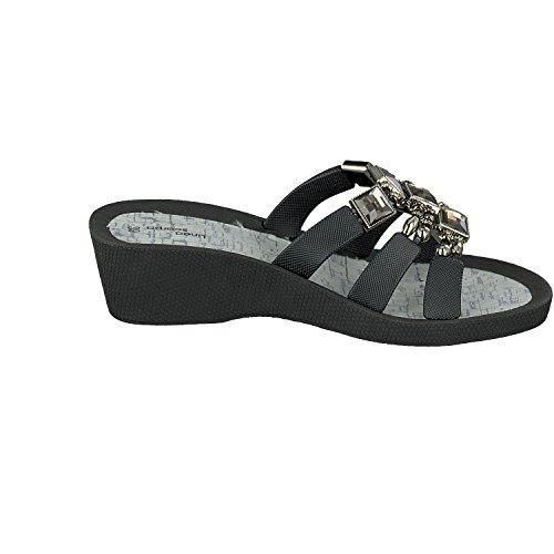 Samoa Informales Sandalias Mujer Y Zapatos Zapatillas Scarpa Negro Linea Baño 0n4SWI5Tq