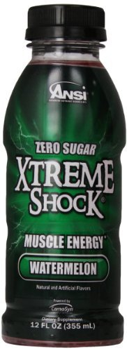 Ansi Xtreme Shock RTD Energy Drink, Watermelon, 12 oz., 12 Count by Ansi