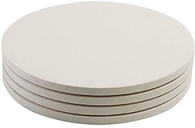 "Round Mini Pizza Stones / Set 4 - 8"""