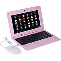 Atoah 10 Inch Mini Notebook Android4.4.2 Jellybean Computer Netbook VIA8880 512/4GB Storage Wifi HDMI (pink)