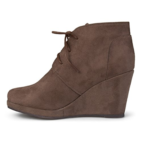 Brinley Co Womens Exit Ankle Boot Taupe XCID9IVra