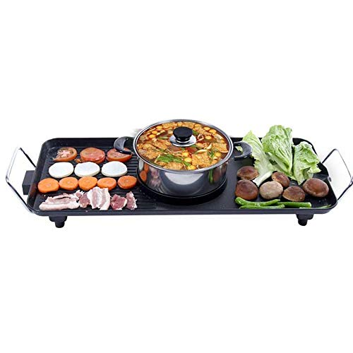 2100W Multifunction Electric grill , Electric Grill Korean BBQ Grill Barbecue Machine Household,Smokeless Multi-Function Bakeware,Non-Stick Electric Griddle Pan,Adjustable Temperature 110V – 240V