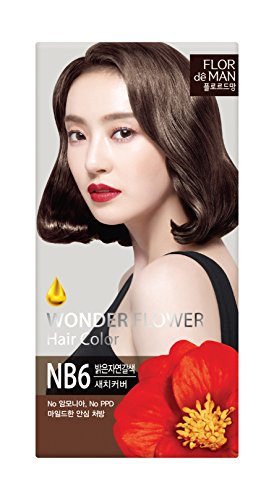 Somang Flor De Man Wonder Flower Hair Color (NB6 Light Natural Brown)