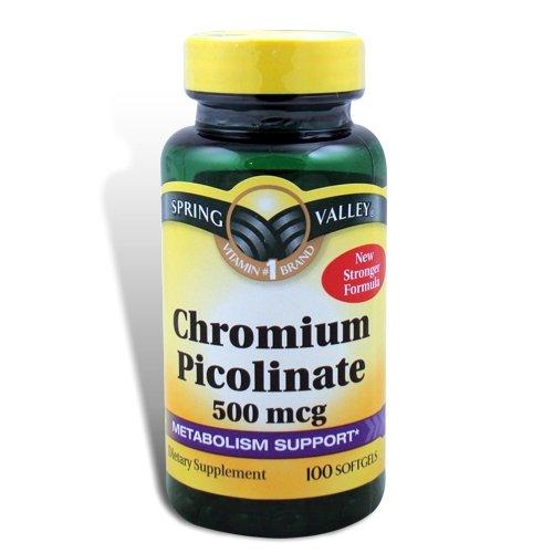 Spring Valley - Chromium Picolinate 500 mcg, 100 Capsules