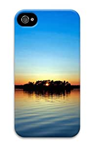 iphone 4 covers custom made Sunset water landscape 3D Case for Apple iPhone 4/4S