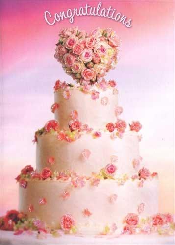 Wedding Cake Topiary Avanti Premium Wedding Card (Wedding Topiary)