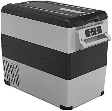 ポータブル冷蔵庫 55リットル車キャンプ、旅行やハイキングのためのポータブルACまたはDC電源の冷蔵庫 車載家庭両用 (色 : 白, Size : 69X34X52CM)