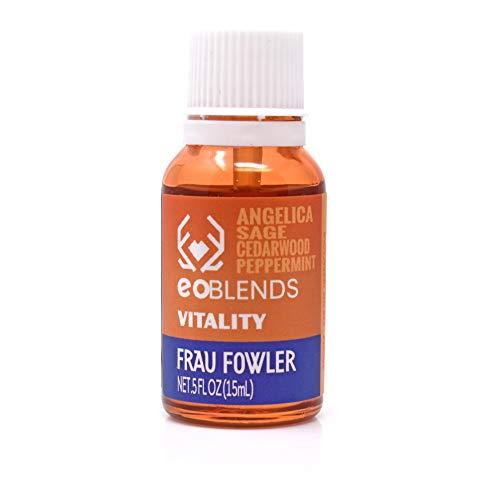 Frau Fowler eoBLENDS- VITALITY Essential Oil Blend for Revitalizing, Stabilizing 15ml.