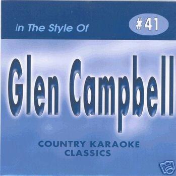 (GLEN CAMPBELL Country Karaoke Classics CDG Music CD)