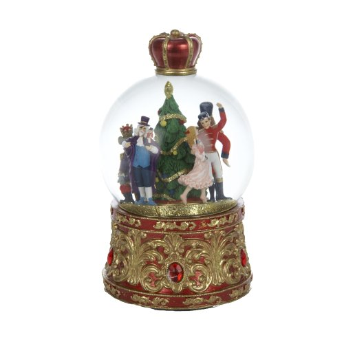 Nutcracker Suite Musical Lighted Holiday Christmas Water Globe by Kurt Adler