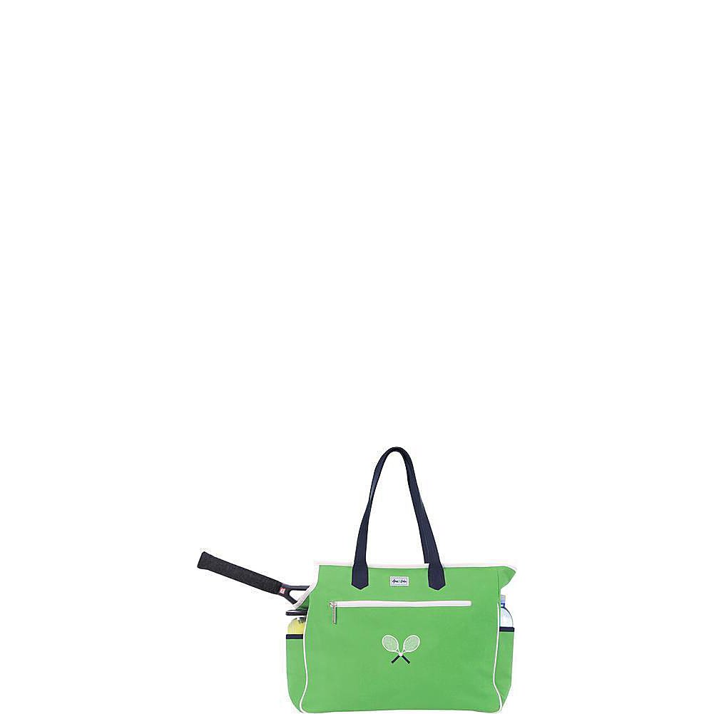 Ame & Lulu Kensington Crossed Racquet Court Bag (Green/Navy)