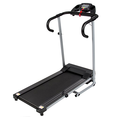 Best Choice Products Black 500W Portable Folding Electric Motorized Treadmill Running Machine by Best Choice Products