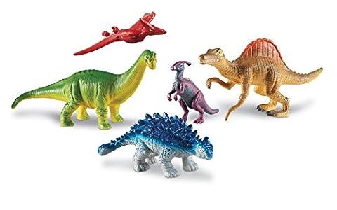 Learning Resources Jumbo Dinosaurs Expanded Set 2, Set of 5 - Ankylosaurus Dinosaur Toy