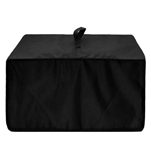 BCP Black Color Heat-Resistant Waterproof Nylon Fabric Microwave Oven Dust Cover Case Protections Protector