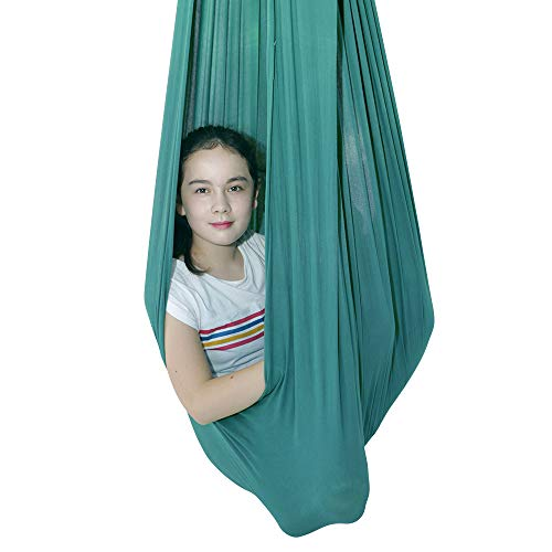 IRQ Indoor Therapy Swing for Kids with Special Needs Snuggle Swing Cuddle Hammock for Children with Autism, ADHD, Aspergers Great for Sensory Integration Hammocks (Green)