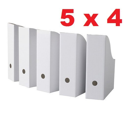 Cardboard Magazine Storage (Royal 20 White Magazine File Holders Storage Boxes 12 1/4