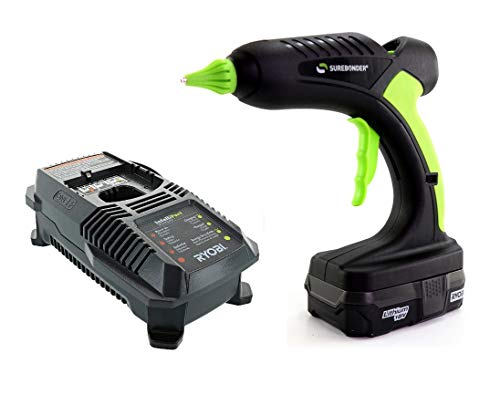 hg-5PDR Pro2–6060W, funciona con batería Pistola de pegamento con Ryobi # P128Kit de Cargador para 18V...