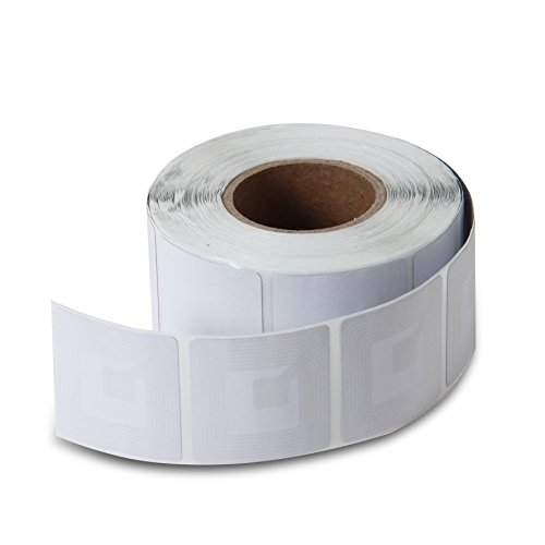 10000 Paper Security Labels 1.5X1.5 Inch Rf 8.2Mhz White Checkpoint Compatible Eas Loss Prevention by Sensornation (Image #5)