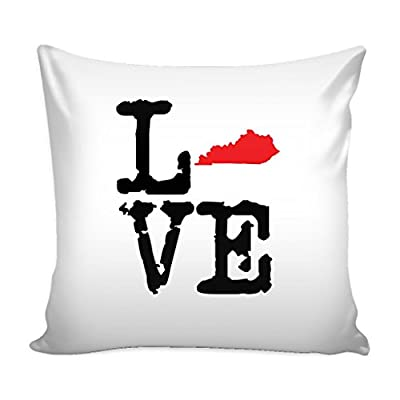 State of Kentucky Pillow Cover - KY State LOVE Throw Cover - Kentucky Accent Cover