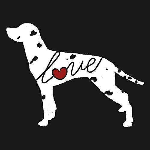 Dalmatian Love - Car Window Vinyl Decal Sticker (Script Font) ()