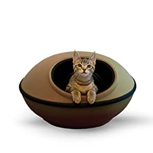 "K&H Pet Products Mod Dream Pod Pet Bed Tan/Black 22"""