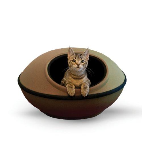 K&H Pet Products Mod Dream Pod Pet Bed Tan/Black 22