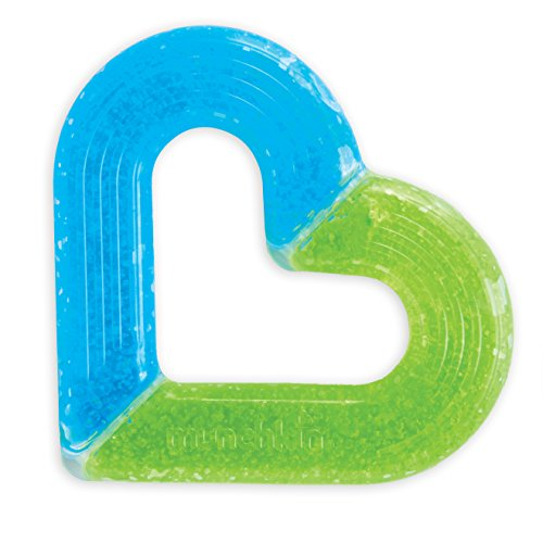 Munchkin Ice Heart Gel Teether, Blue/Green