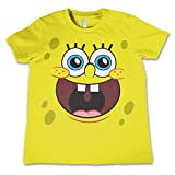 Officially Licensed Merchandise Sponge Happy Face Unisex Kids T Shirts - Yellow 5/6 Years
