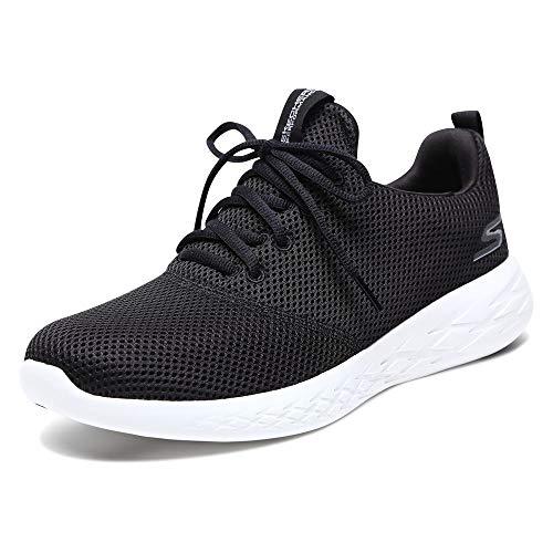 Skechers Men's GO Run 600 55076 Sneaker, Black/White, 11 M US