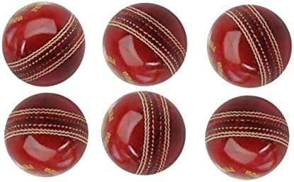 AnNafi - Pelota de Cricket de Piel, Color Rojo, Grado A | Cosido a ...