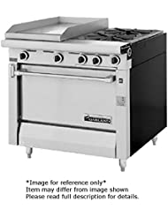 Garland MST42 6R E Master Series Heavy Duty 34 Gas Range With 2 35 000 BTU Open Burners 1 17 Even Heat Hot Top 1 Standard Oven Electric Ignition