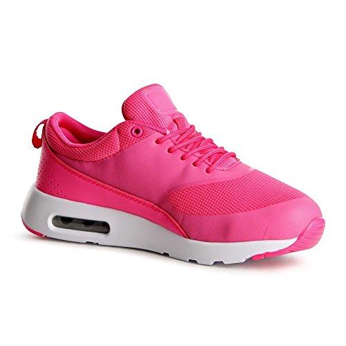 topschuhe24 741Femme Sneaker Chaussures de sport rose bonbon wPthlvXxA